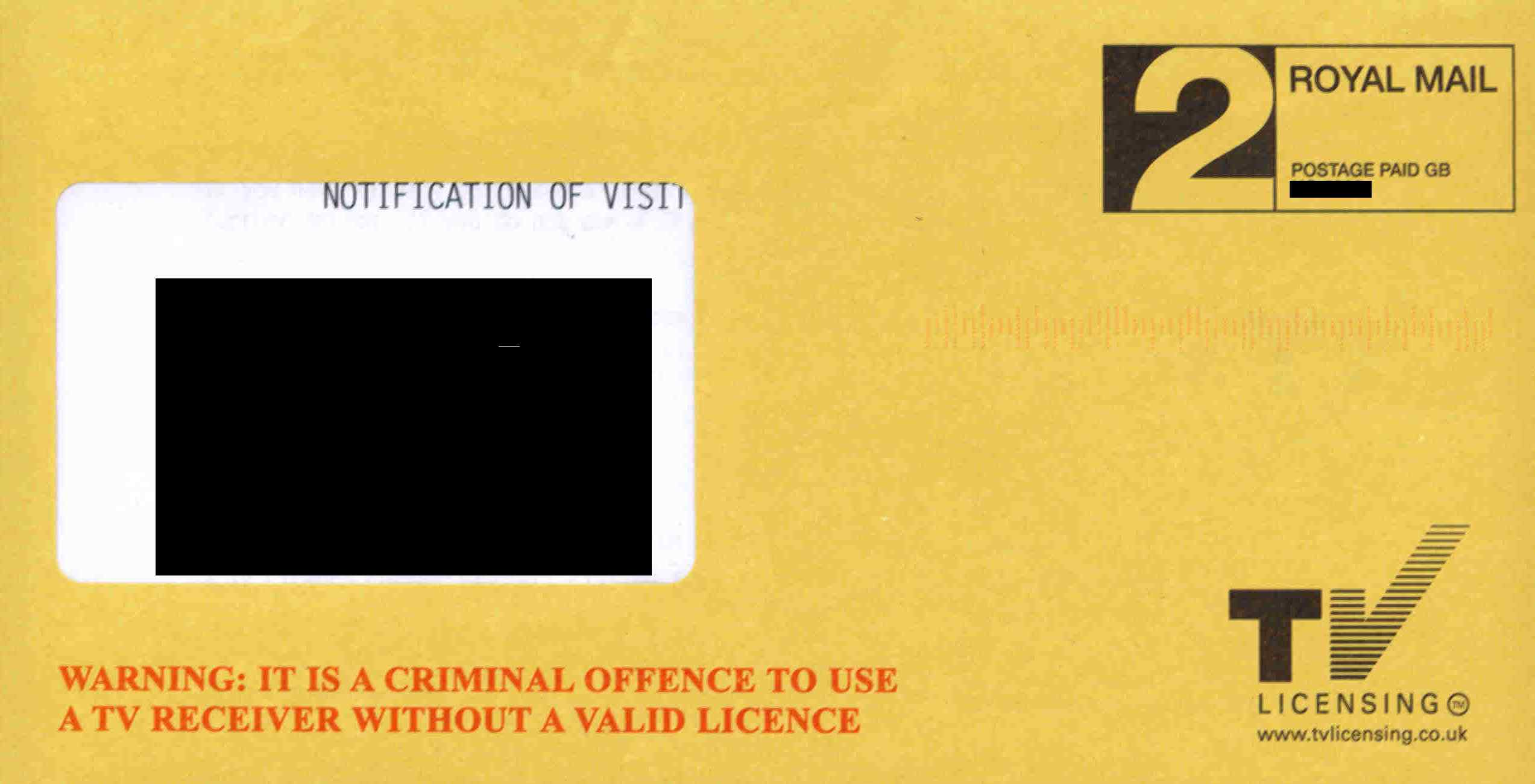 Warning: it is a criminal offence to use a TV receiver without a valid licence